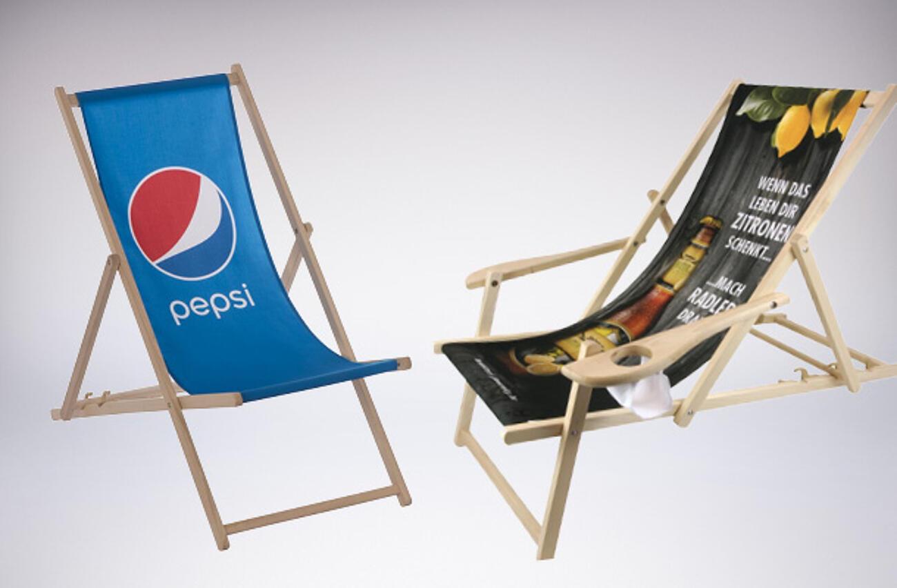 Sedie a sdraio personalizzate con logo o foto stampati